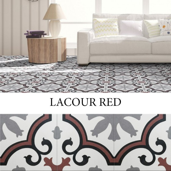 IMPORTILES LACOUR RED 25x25